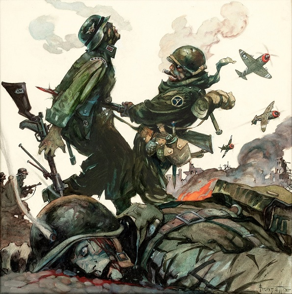 Frazetta Blazing Combat Covers in Hake's July Auction