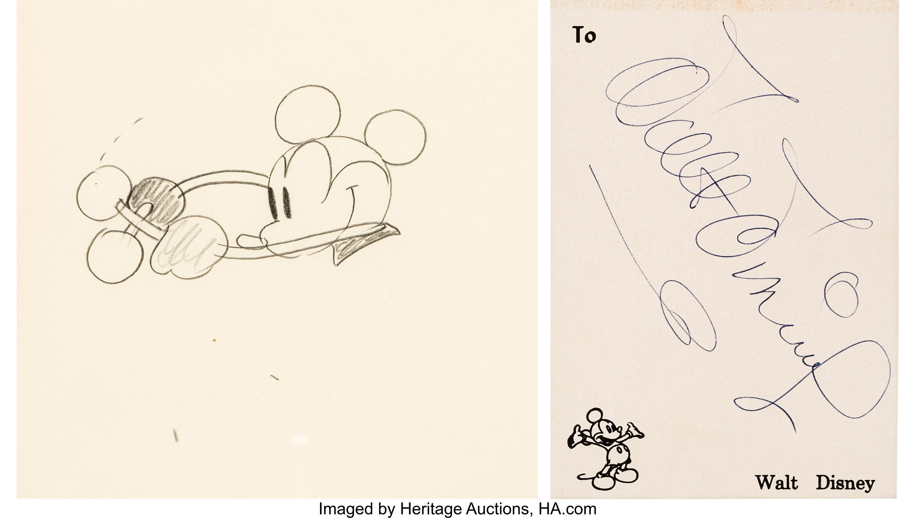 Large Collection of Vintage Disney Animation Art at Heritage