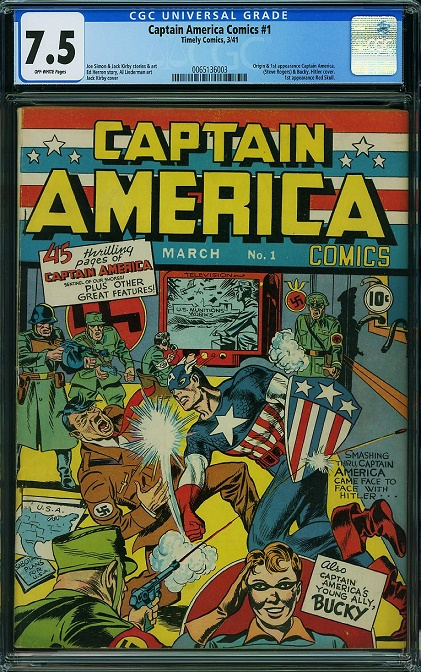 CGC 7.5 Captain America #1 Leads ComicLink Featured Auction